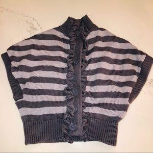 Garnet Hill sweater poncho for girls